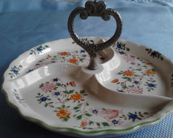 Vintage Handled  Ceramic Candy Dish ECS