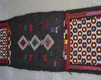 Buglem / Handwoven Vintage Turkish Antique Decorative  decorative rug  -  Mut region ,40 years old - 16,4''x78,8'' inch