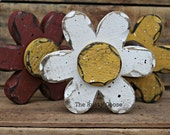 Rustic Flower, Rustic Spring, Primitive Spring, Primitive Flower, Summer Decor, Flowers, Rustic Daisy, Wood Flower, Primitive Daisy