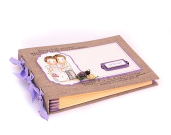 Wedding guestbook- handmade scrapbooking journal for wedding thoughts