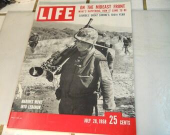 "LIFE  MAGAZINE      """" JULY 28,1958 """"      Very  Nice  Life  Magazine"