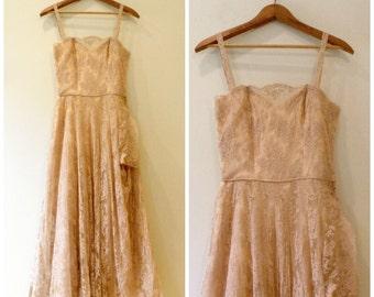 Vintage Ceil Chapman / Small / 1950's Wedding Dress