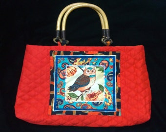 Quilted Owl Bag