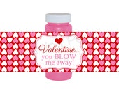 Valentine's Day Bubble Bottle Labels - Instant Download DIY Printable 4 oz. Bubble Bottle Labels - Valentines Day