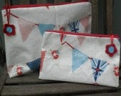 Union Jack Bunting Family Sized Washbag Set