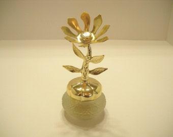 Vintage 1970s Avon Flower Keepsake, Bird Of Paradise Cream Sachet (11)
