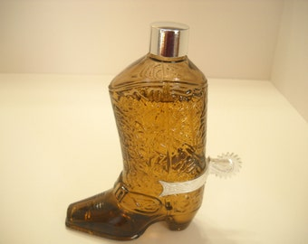 Vintage 1970s AVON COWBOY BOOT,  Wild Country After Shave (3)
