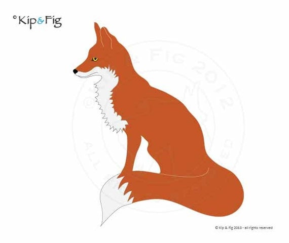 Fox applique template - PDF applique pattern