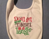 Don't get your Tinsel in a tangle Bib