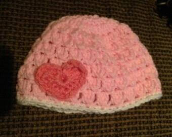 Newborn - 3mo Heart Hat