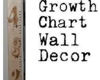 Wooden Ruler Growth Chart 6 inch wide