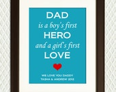 Personalized Christmas or Father's Day Gift for Dad - Quote for fathers, sons, daughters - For Grandfather, Granddad, Grandpa, Mothers Day