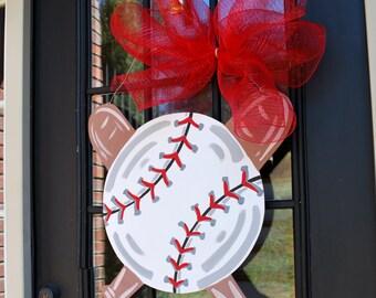 Door Hanger: Baseball, Softball, Baseball Wall Decor, Sports Decor