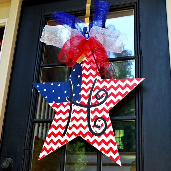 Fourth Of July Door Hanger 4th Of July Wreath By