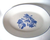 Pfaltzgraff Stoneware Yorktowne Pattern Oval Platter Casserole Dish