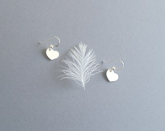 tiny heart earring  // sterling silver minimalist jewelry