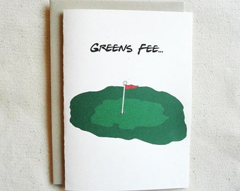 St. Patrick's Day Card Funny Party Hangover Greens Fee...