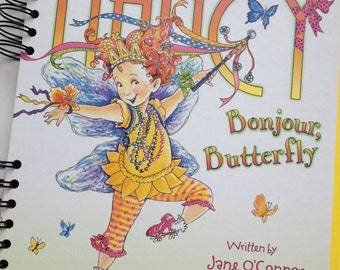 Fancy Nancy Bonjour Butterfly Recycled Book Journal