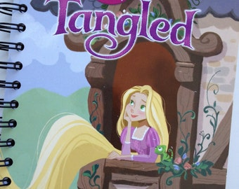 Tangled Little Golden Book Recycled Journal Notebook