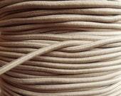 5 yards - tan - elastic rope cords (2mm width)