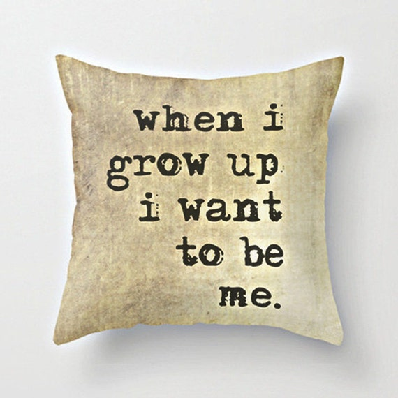 Throw Pillows Quilted : Items similar to Motivational Quote, Decorative Pillow Cover, Brown and Black Home Decor ...