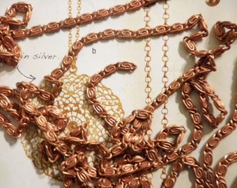 6 Ft. of Vintage Coppercoated Twisted Link Chain