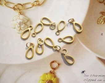 10 Goldplated 15mm Dangles