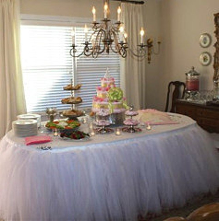 Table Tutu Skirt You Pick Colors By Baileyhadaparty On Etsy