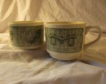 Vintage CURRIER & IVES Yoke and Plow Coffee MUG Cup (1)