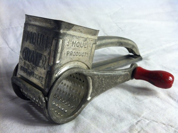 Vintage Crank Cheese Grater : Antique hand cranked mouli cheese grater