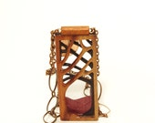 Wooden jewelry, Wood necklace, exotic wood pendant, copper chain, woodland, handmade