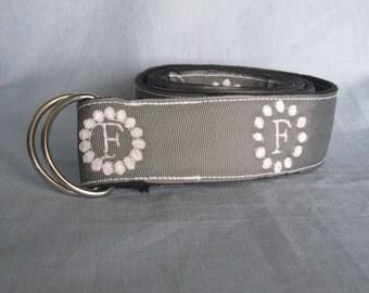 Women's Embroidered Monogram Belts