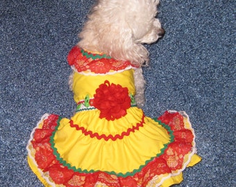 Fiesta Ruffsody Dog Dress- MEASUREMENTS REQUIRED-put in comment section at checkout