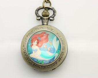 Necklace Pocket watch ariel the little mermaid