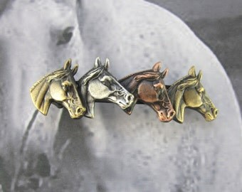 Horses French Barrette Clip 70mm Hair Accessories- Hair Clip- Horse Lover- Equestrian Hair Bow