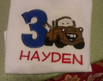 Tow Mater Birthday Shirt