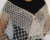 Shawl Sophie, Wrap Fresh for Spring, Stole in crochet, Collection Spring-Summer 2013