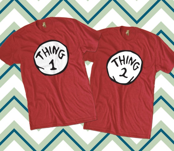 Custom Thing 1 And 2 T Shirts For Gallia By Teesquare On Etsy