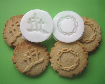 EASTER Religious COOKIE STAMPS recipe and instructions - make your own decorative cookies