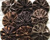 Yo Yo 30 1 1/2 inch Shades of Brown assorted prints