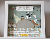 Sold, but similar can be custom made - Wedding, Anniversary gift - Personalised Art