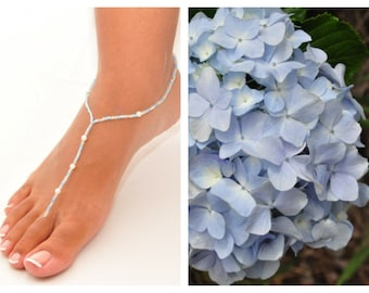Toe Thongs (pair)- Inspired by Hydrangea flowers in Hawaii (No.14)