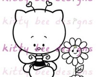 Kitty Bee Digi Stamp