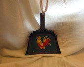 Tin Crumber w/  Chicken / Hen - Toleware, Decorative, Colorful,