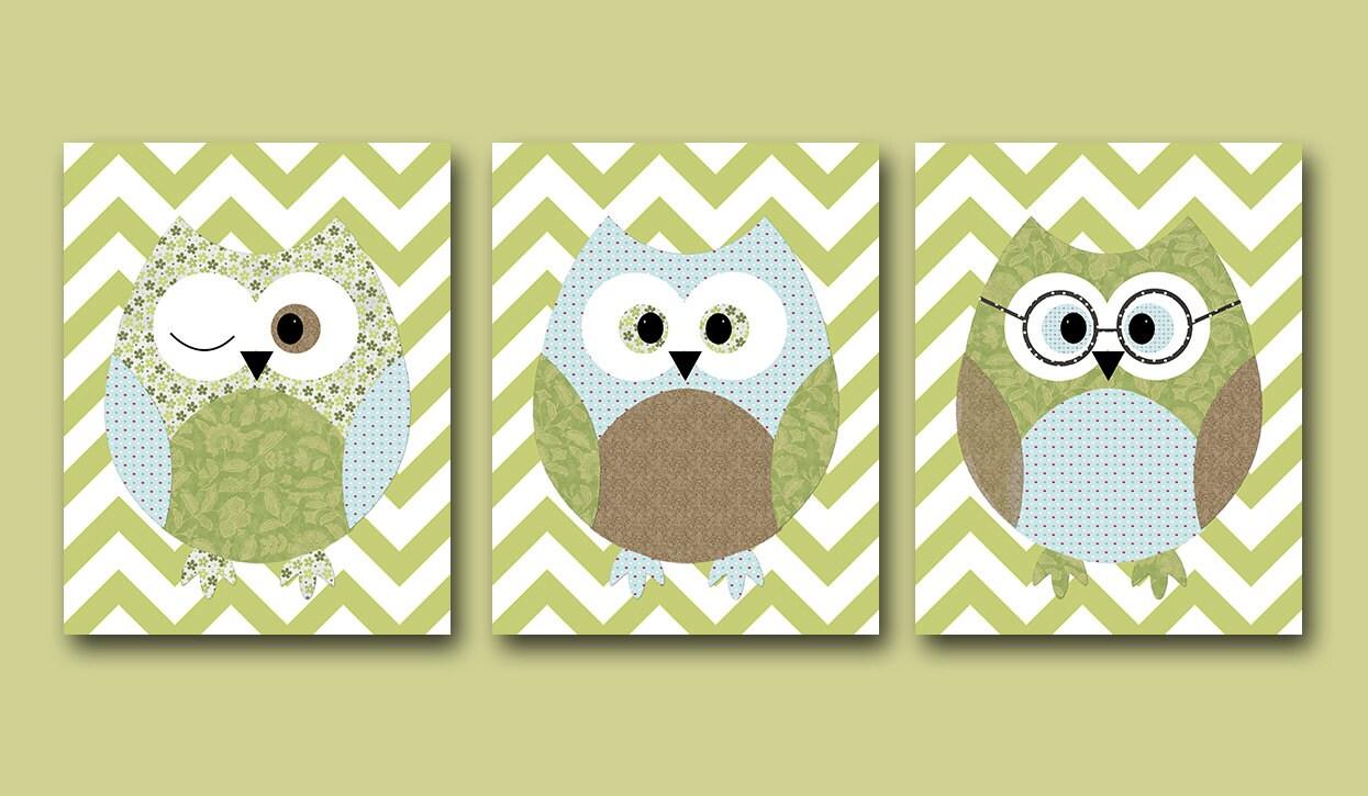 Owls nursery baby boy nursery art nursery wall art baby - Wall decor for baby boy ...