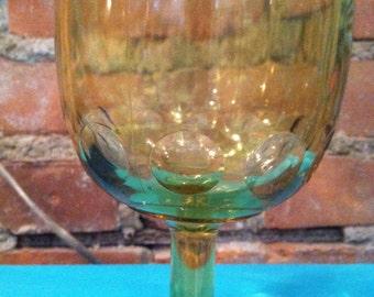Iridescent Carnival Glass Goblet