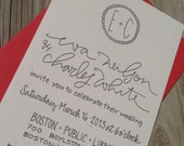 Preppy Modern Wedding Invitation