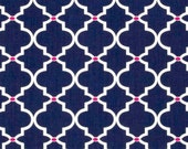 "1/2 YARD - Navy Ogee from ""In the Navy"" Collection- by Jacqueline Savage / Camelot Fabrics - LAST 1/2 Yard"