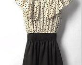 retro fun chic SUMMER POLKA DOT Dress size Medium