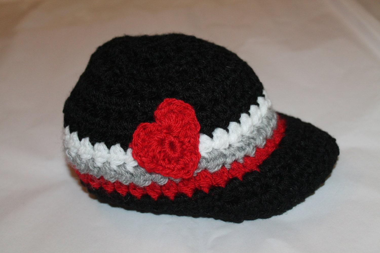 Crochet Valentine Hat : Baby Boy Valentine Hat Crochet baby boy Valentines Day